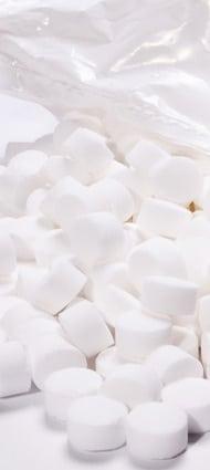 Tablettes de sel pour détartrant